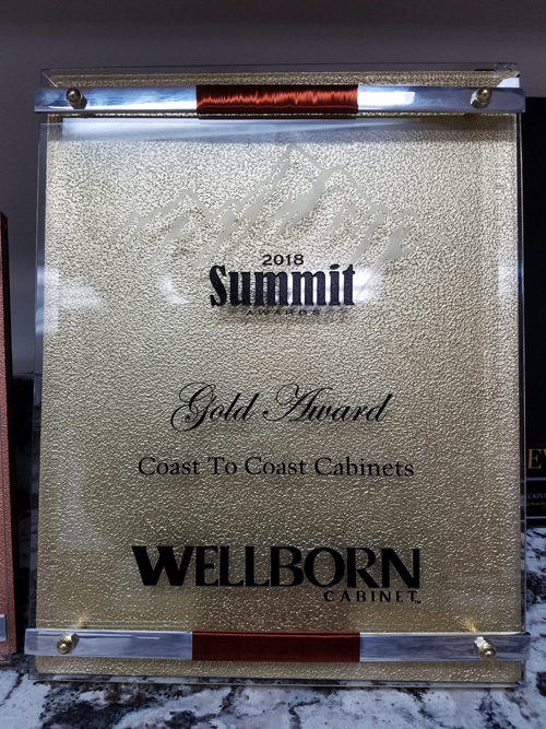 wellborn cabinetry award coast to coast cabinets summit award